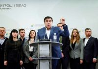 The former Georgian president Mikheil Saakashvili at a news conference in Kiev this month. Credit Valentyn Ogirenko/Reuters