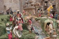 The Carnegie Museum of Art's Neapolitan crèche (detail of a Wise Man with musicians), Pittsburgh, 2016