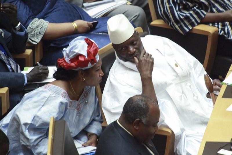 President Jammeh: known as the 'Sultan'. Solan Kolli/EPA
