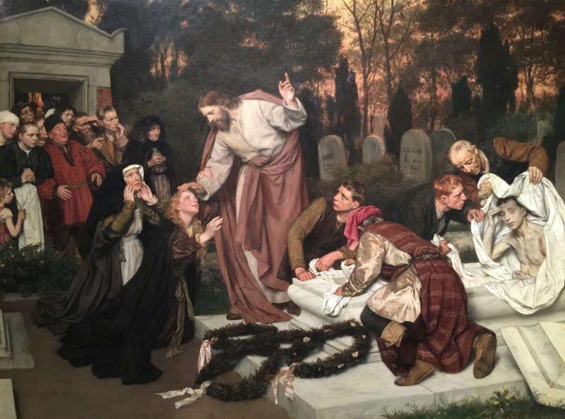 """The Raising of Lazarus"" by Eduard von Gebhardt, from 1896. Corbis, via Getty Images"