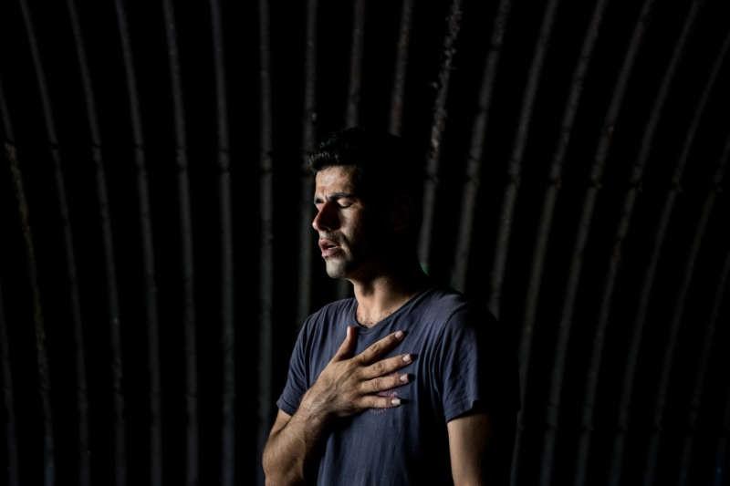 Karam Zahirian, a refugee from Kermanshah, Iran, on Manus Island in Papua New Guinea. Ashley Gilbertson/VII for The New York Times