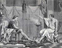 Alejandro Magno recibe lecciones de Aristóteles. CORBIS