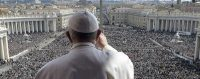 Bénédiction du pape, 27 mars 2016. © Keystone/L'Osservatore Romano/pool photo via AP