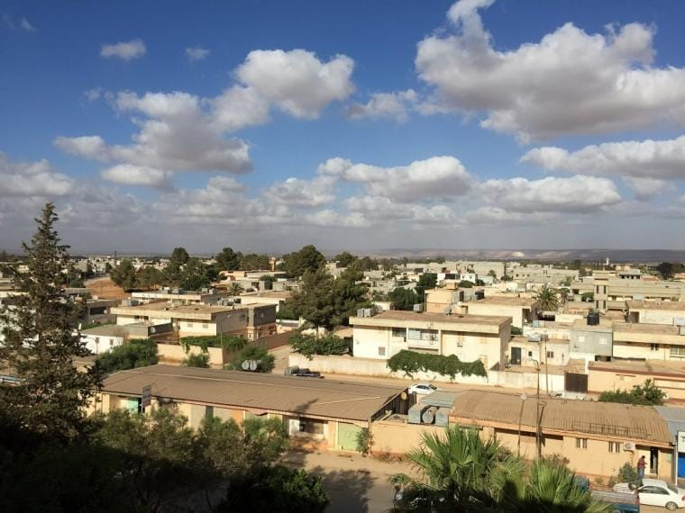 Clouds dot the skyline over Merj, in Eastern Libya, 16 July 2016. CRISIS GROUP/Claudia Gazzini