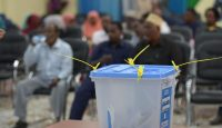 A ballot box in Baidoa. Somalia. Photo by Getty Images.
