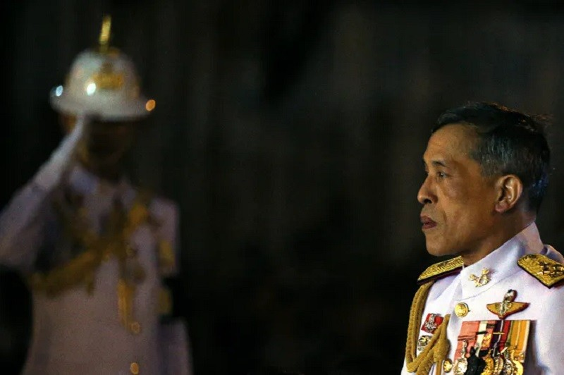 Thailand's then-Crown Prince Maha Vajiralongkorn at an event mourning his father. Athit Perawongmetha/Reuters
