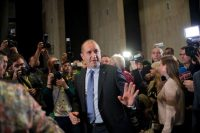 Rumen Radev after a press conference in Sofia, Bulgaria, in November. Nikolay Doychinov/Agence France-Presse — Getty Images