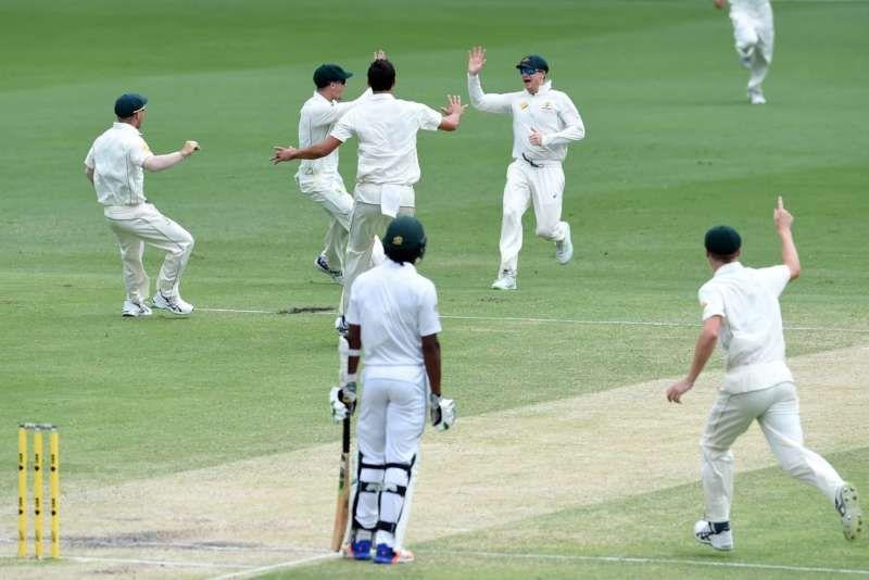 Australian players celebrated their defeat over Pakistan this month in Brisbane. Dan Peled/European Pressphoto Agency