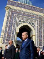 President Recep Tayyip Erdogan of Turkey visiting the mausoleum of an Islamic scholar in Samarkand, Uzbekistan, last month. Pool photo by Kayhan Ozer, via Associated Press