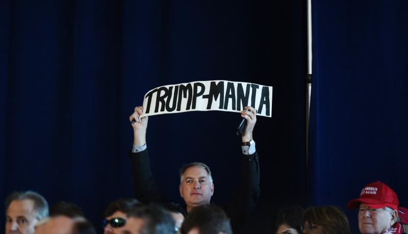 A Trump rally in Baton Rouge on 9 December. Photo by Getty Images.