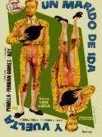 """Cartel de """"Un marido de ida y vuelta"""", de Jardiel Poncela."""
