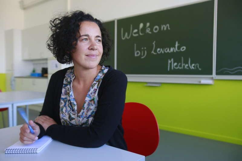 Gabriella De Francesco, a former teacher now tasked with Mechelen's refugee-integration strategy. Owen Franken for The New York Times