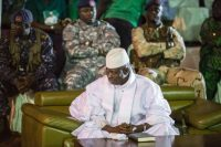 Gambian President Yahya Jammeh in Banjul, Gambia, on Nov. 29, 2016. (Marco Longari/Agence France-Presse via Getty Images)
