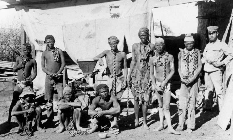An exhibition 'Namibia-Germany: a divided history', at the German Historical Museum in Berlin examines the history of reconciliation with the former Africa colony. Photograph: -/AFP/Getty Images