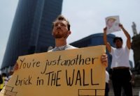 A protester during Trump's August 2016 visit to Mexico. Tomas Bravo/Reuters