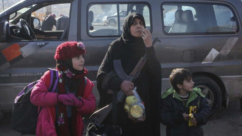 Syrians evacuated from the embattled Syrian city of Aleppo during the ceasefire arrive at a refugee camp in Rashidin, near Idlib, Syria, on Dec. 20, 2016. Russian Foreign Minister Sergey Lavrov said on Tuesday that Russia, Iran and Turkey are ready to act as guarantors in a peace deal between the Syrian government and the opposition. He spoke on Tuesday after a meeting of the three countries' foreign ministers in Moscow.