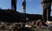 A suspected mass grave of Yazidis killed by Isis, found after the jihadi group was driven out of Sinjar. Photograph: Sam Tarling for the Guardian.
