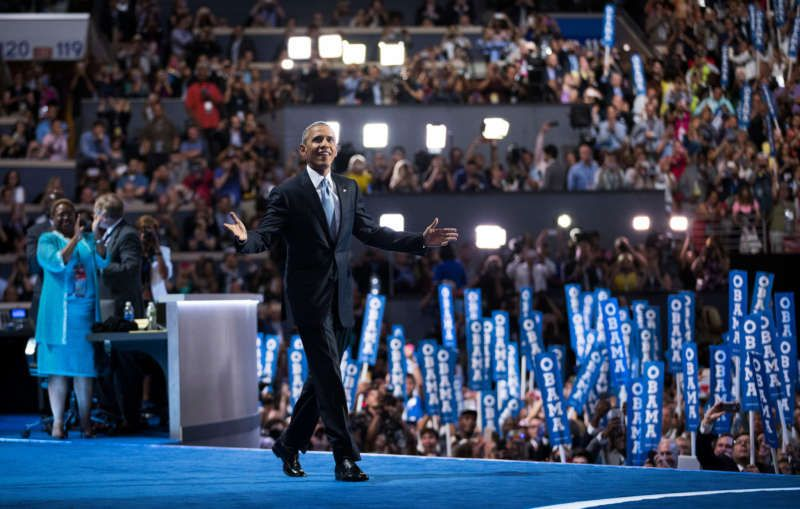 Mr. Obama before his speech at the Democratic National Convention in Philadelphia last month. Credit Doug Mills/The New York Times
