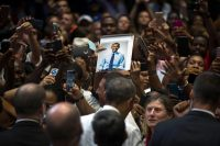 President Obama campaigning for Hillary Clinton in Miami Gardens in October.Credit...Doug Mills/The New York Times