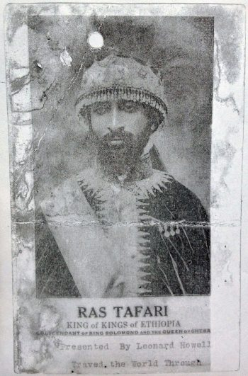 Pamphlet with image of Haile Selassie, distributed by Leonard Howell at his public meetings, circa 1935 (Jamaica Archives, Spanish Town)