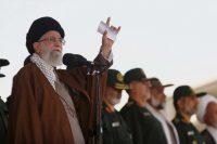 Iran's Supreme Leader Ayatollah Ali Khamenei speaks at a graduation ceremony of Revolutionary Guard officers in Tehran in 2015. (Office of the Iranian Supreme Leader via Associated Press)