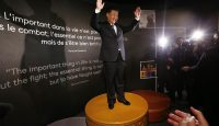 Xi Jinping visits the Olympic Museum in Lausanne following his speech at Davos. Photo by Getty Images.