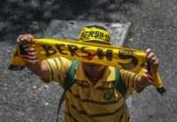 A protester's scarf bearing the logo of the Bersih, an electoral-reform movement, in Kuala Lumpur, Malaysia, in November. Mohd Daud/NurPhoto, via Getty Images