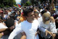 Leopoldo López, momentos antes de entregarse en Caracas (Venezuela) el 18 de febrero de 2014. MANAURE QUINTERO (EFE)