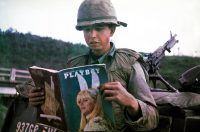 Dan Mouer in Vietnam in 1966. The magazine was sent by his wife, along with a batch of chocolate chip cookies.