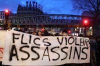 Manifestation à Bordeaux, le 12 février, contre les violences policières. Mehdi Fedouach/AFP