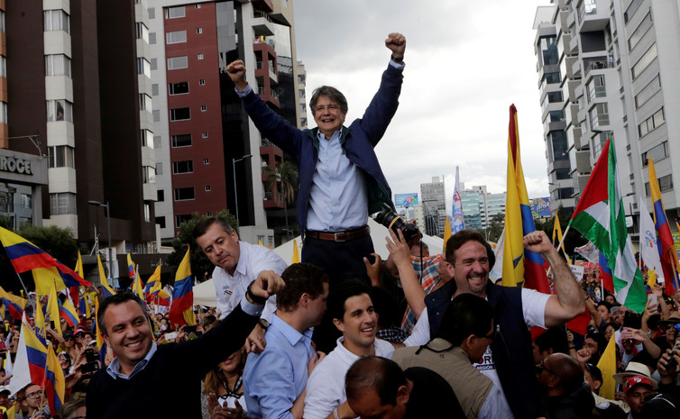 Guillermo Lasso: forcing a run-off is a victory for the opposition. Henry Romero/Reuters