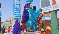 Supporters of new president Mohamed Abdullahi celebrate in Mogadishu. Photo: Getty Images.