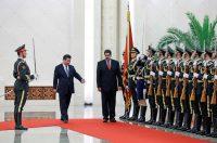 El presidente Nicolás Maduro con Xi Jinping durante una visita a Pekín, en enero Andy Wong para el pool