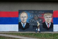 A mural of Russian President Vladimir Putin and US President Donald Trump, Belgrade, Serbia, December, 2016. Marko Djuric/Reuters