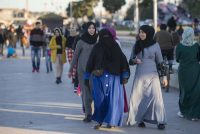 Moroccan women walking in capital Rabat. EPA/STR