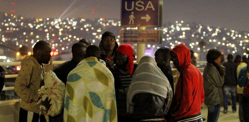 Haitians migrants wait to make their way to the U.S. and seek asylum at the San Ysidro Port of Entry in Tijuana, Mexico, July 15, 2016.  REUTERS/Jorge Duenes/File Photo - RTSNYD6