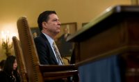 James Comey testifying on Capitol Hill on Monday. Credit Eric Thayer for The New York Times