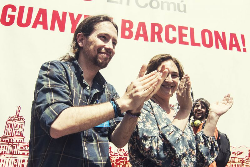 With the likes of Pablo Iglesias and Ada Colau coming to power in Spain, we are witnessing the rise of the 'post-representatives'. Barcelona En Comú/flickr, CC BY-SA