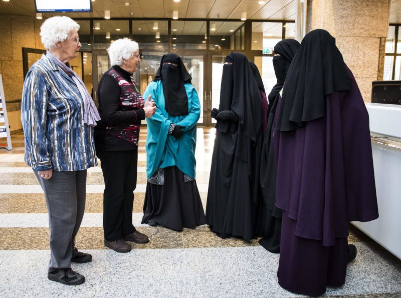 At the senate in The Hague in November during talks to ban full-body burqas in some public places in the Netherlands.