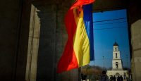 The Moldovan flag in Chisinau. Photo: Getty Images.