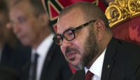 King Mohammed VI at the royal palace in Tangiers. Photo: Getty Images.