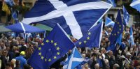 File photo dated 30/07/16 of a march for Scottish independence through Glasgow city centre, as a prominent campaign group has launched a new fundraising drive as it expects a second referendum to be held in May or September next year.