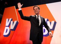 Prime Minister Mark Rutte saw off far-right challenger Geert Wilders. Yves Herman/Reuters