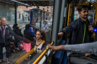 On the bus in Norrebro, a multicultural neighborhood in Copenhagen. Ilvy Njiokiktjien for The New York Times