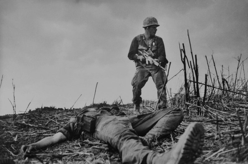 A casualty of the Battle of Hill 881, near Khe Sanh, South Vietnam.