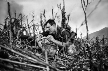 Navy corpsman Vernon Wike, with a dying comrade, near Khe Sanh, South Vietnam, in 1967.