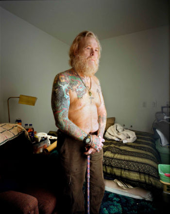 Catherine Leroy's last photograph of Vernon Wike, in 2004. Dotation Catherine Leroy, via Contact Press Images