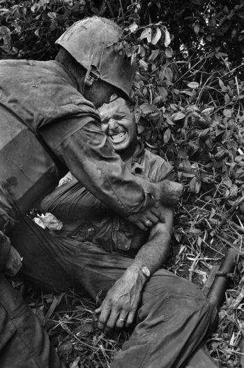 A Marine injured in Operation Prairie.
