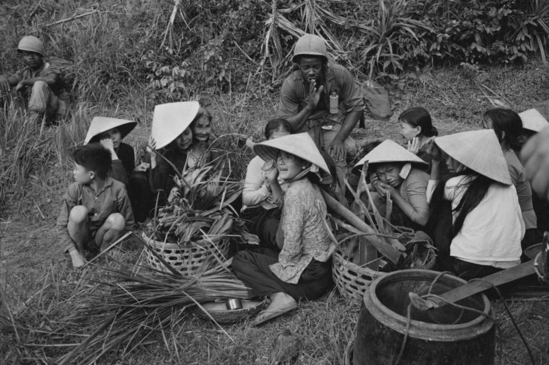 Members of the First Cavalry near Bong Son, in 1967, fearing a Vietcong ambush