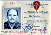 William Eastlake's Military Assistance Command, Vietnam (MACV) ID Card, 1967. Credit William Eastlake Papers, University of Arizona Libraries, Special Collections
